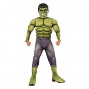 Costum pentru baieti Hulk Deluxe, varsta 3-4 ani, marime S