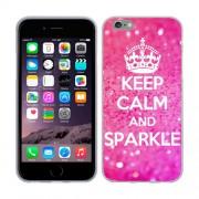 Husa iPhone 6 iPhone 6S Silicon Gel Tpu Model Keep Calm Sparkle