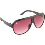 Royal County Of Berkshire Polo Club Over-sized Sunglasses(Red)