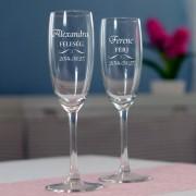 Férj-Feleség pezsgőspoharak