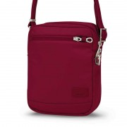 Pacsafe Citysafe CS75 Anti Theft Cross Body Travel Bag Cranberry