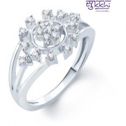 Sukkhi Bewitching Rhodium Plated Cz Ring