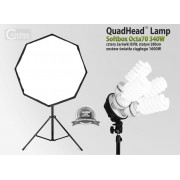 Lampa typu SOFTBOX octa 70cm, 4 żarówki x85W, statyw 280cm