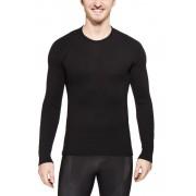 Woolpower Unisex 200 Crewneck black 2019 M Tunna underställströjor i merino