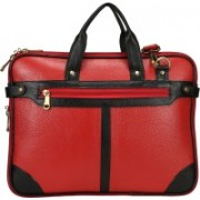 Leather Giant 16 inch Expandable Laptop Messenger Bag(Red)