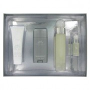 Perry Ellis 360 White Eau De Toilette Spray + Deodorant Stick + After Shave Balm + Mini EDT Spray Gift Set 456640