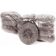 Set 10 Bureti Spiralati pentru Uz Profesional din Inox OTI 40 g Culoare Argintie