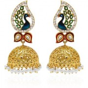 Jewels Gold Party Wear Fashion Designer Unique Traditional Latest Jhumki Earring Set For Women Girls