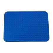 "Premium Blue Base Plate 15"" X 10.5"" Baseplate (Lego Duplo Compatible)"