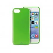 Capa em Silicone Puro Plasma para iPhone 5C - Verde Transparente