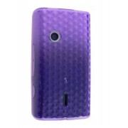 TPU Gel Case for Sony Ericsson XPERIA X8 - Sony Soft Cover (Purple)