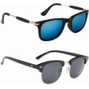 Spexra Wayfarer, Clubmaster Sunglasses(Blue, Grey)