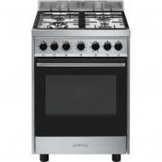 SMEG B601gmxi9 Cucina 60x60 4 Fuochi A Gas Forno Elettrico Ventilato 70 Litri Cl