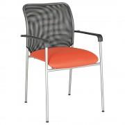 アイメッシュ W520×D450×H835mm スタッキングチェア 会議椅子 オレンジ スタックチェア 会議チェア ミーティングチェア オフィス家具