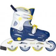Nijdam justerbara inlines för barn blå/gul/vit