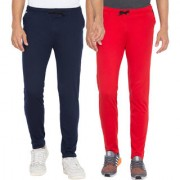Cliths Pack Of 2 Slim Fit Solid Men's Lower for Daily Use (Red Navy Blue)
