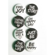 Badge Collection of fashion badges Fashion accessories Funny, cool, funky metal frame typography quotes Grace your clothing, bags, denims, t shirt, shirt or put them anywhere you like.