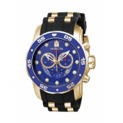 Invicta Watches Invicta Men's 6983 Pro Diver Collection Chronograph Blue Dial Black Polyurethane Watch BlueBlack