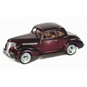 1939 Chevy Coupe, Burgundy - Motormax 73247 -1/24 scale Diecast Model Toy Car