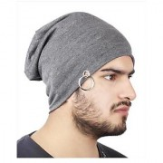 Cool Grey Voyage Cotton Beanie Cap