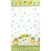 MamaKiddies Baby Bear 2 részes ágyneműhuzat Bagoly zöld színben