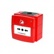 Buton de incendiu adresabil cu izolator la scurt-circuit Hochiki HCP-W(SCI), IP67, LED dual, cutie de montaj rosie