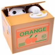 Alcancia Roba Monedas Gato Naranja