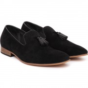 Pantofi barbati Alvin cu aspect catifelat, Negru 39