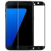 Folie protectie ecran sticla curbata Samsung Galaxy S7 EDGE pentru tot ecranul Full Cover curbata 3D Neagra