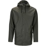 Rains Jacket regenjas unisex Kleur: donkergroen, Maat: M-L donkergroen