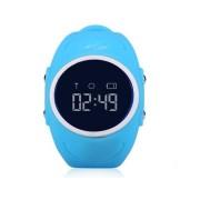 Ceas inteligent pentru copii GW300S Bleu rezistent la apa cu telefon si localizare GPS Wi Fi