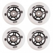 Roti WORKER 80 mm si rulmenti ABEC-7 Chrome - set 4 buc.