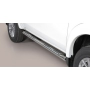 TUBES MARCHE PIEDS OVALE INOX DESIGN MITSUBISHI L200 2015- Club Cab- accessoires 4x4 MISUTONIDA