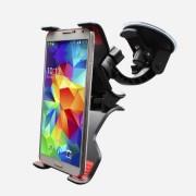 Univerzális Nagy csipeszes autós telefon tartó szélvédőre tapadókorongos 8,4inch-ig