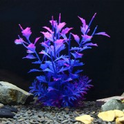 Arbol Artificial Plant Grass Figuras Miniaturas Aquarium Fish Tank Paisaje, Tamaño: 20,0 X Transporte (purpura)