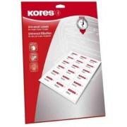 Kores L105148.25 étiquettes multiusages blanches 105x148 mm coins droits - Poch 25 pl. A4