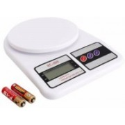 NKZ KS 1329 Electronic Digital Kitchen 10 kg Weighing Scale(White)