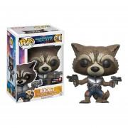 Funko Pop Rocket Raccoon Only Gamestop Sticker Guardians Of The Galaxy Vol 2