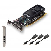 PNY nVidia Quadro P400 Workstation GPU, PCIe 3.0, 2GB DDR5, With Low Profile Bracket