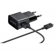 Зарядно за Samsung телефони и таблети - захранване (2A) и microUSB кабел (150см) (ETA-U90EBE) (черно)