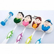 UNTOLD Family Cartoon Characters Suction Cup Toothbrush Holder with Hourglass Timer
