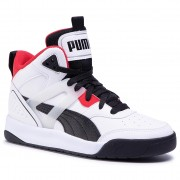 Sneakers PUMA - Backcourt Mid Jr 374411 01 White/Black/Red/Silver