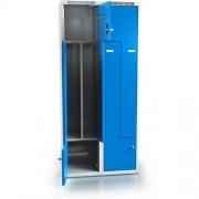 Öltözoszekrény - szürke/kék 4909