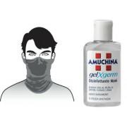 100% Cotton black neck tube face mask washable & pocket size hand sanitizer