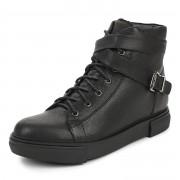 283-052C-2101 Ботинки для активного отдыха жен. кожа/текстиль черн, Thomas Munz - 36