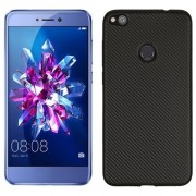 Husa telefon Fibra de carbon Huawei P8 Lite 2017 negru / negru