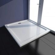 vidaXL Rectangular ABS Shower Base Tray White 80 x 90 cm