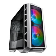 Cooler Master Mastercase H500P ATX; Mesh White; Tempered Glass Window; 2 x 200mm ARGB Fans; Mesh Fro