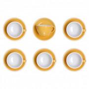 """Set von Cappuccino-Tasse mit Untertasse Loveramics """"Egg Yellow"""", 200 ml, 6 Stk."""