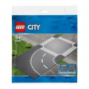 Set de constructie LEGO City Curba si intersectie